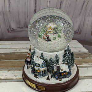Musical Snow Globe Illuminated Thomas Kinkade A Vi